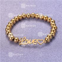 Pulsera con Bolitas Oro Dorado Para Mujer -SSBTG95-6247