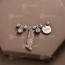 Conjunto de Charms DIY en Acero Inoxidable -SSSTG142-8508