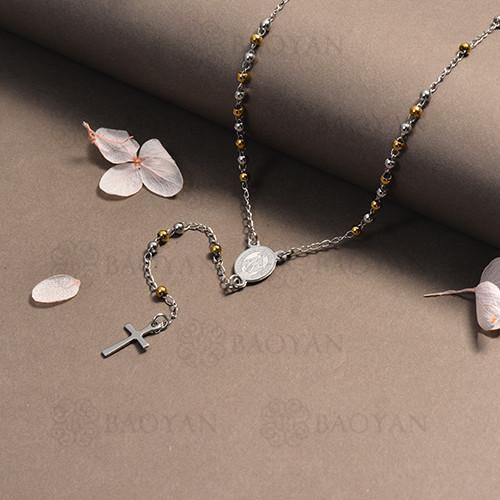 rosario en acero inoxidable -SSNEG95-16384