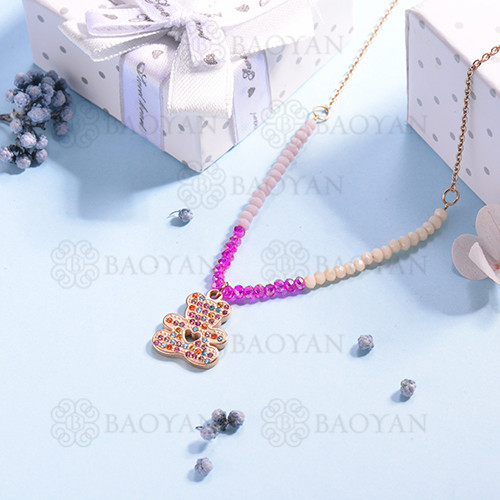 Collar de multi color en acero inoxidable -SSNEG142-14690