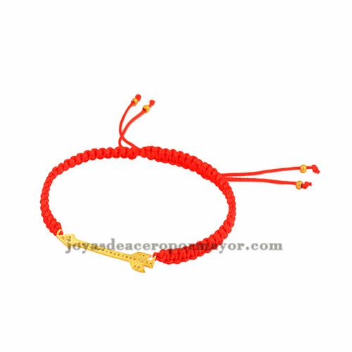pulsera rojo de flecha laminado para mujer BRBTG00061