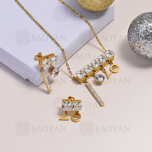 collar de acero inoxidable para mujer -SSCSG173-14741