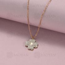 collar de acero inoxidable para mujer -SSNEG143-14831