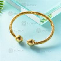 pulsera dorado en acero inixidable-SSBTG26-9129