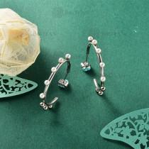 Aretes de Perla Imitacion en Acero Inoxidable -SSEGG143-9113