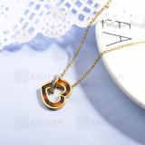 collares de acero inoxidable para mujer -SSNEG143-15369