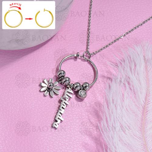 collar de DIY en acero inoxidable -SSNEG143-15475