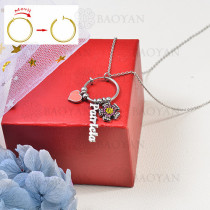 collar de charms DIY en acero inoxidable -SSNEG142-16243