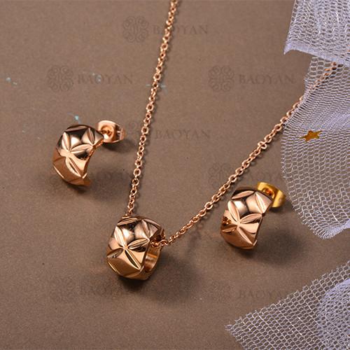Conjunto de Collar de Acero Inoxidable -SSNEG80-12636