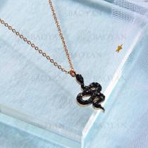 Collar de Cristal Acero Inoxidable  -SSNEG143-13030