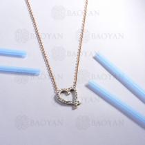 collar de acero inoxidable para mujer -SSNEG143-14804-R