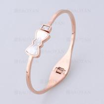 pulsera con lazo en acero de oro rosado -SSBTG1225229