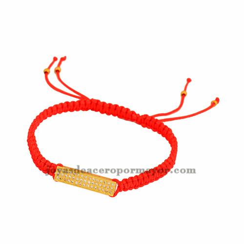 pulsera rojo de tubo oro laminado para mujer BRBTG00059