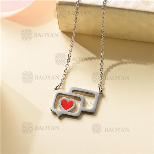 Collar Regalo para Novia en el Dia de Amor en Acero Inoxidable -SSNEG143-11328
