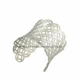 brazalete de dibujo especial  en acero inoxidable para mujer de plateado-SSBTG213237