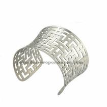 pulsera de estilo especial en acero plateado inoxidable para mujer -SSBTG213436