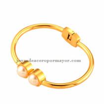 pulseras de perlas color oro doradas tienda online