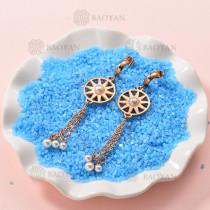 Aretes de Perlas de Acero Inoxidable -SSEGG143-9289