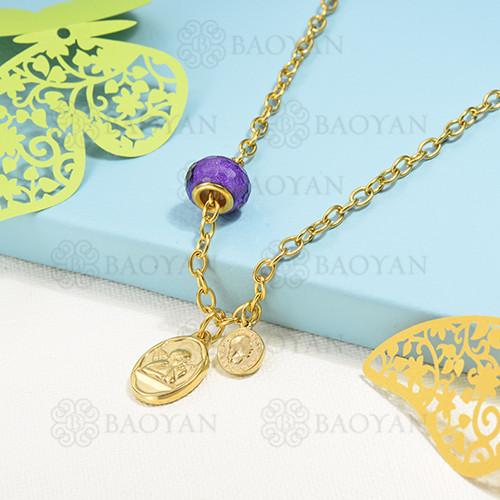 collar de charms en acero inoxidable -SSNEG142-16219