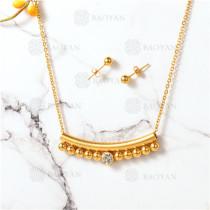 conjunto de dorado en acero inoxidable-SSNEG107-10088