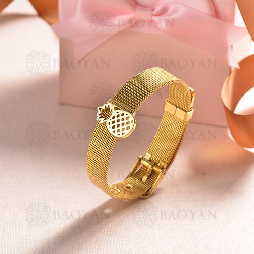 pulsera de charm en acero inoxidable para mujer -SSBTG142-16140-G