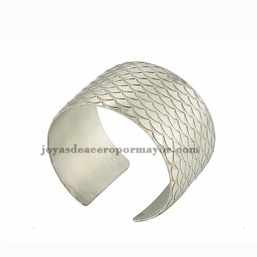 pulsera de diseno nuevo en acero inoxidable de plateado para mujer-SSBTG213209