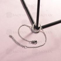 Pulsera de Acero Inoxidable Cristal para Mujer -SSBTG143-14808-S