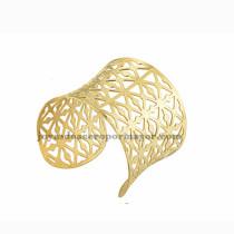 pulsera de malla de dorado en acero inoxidable para mujer-SSBTG213214