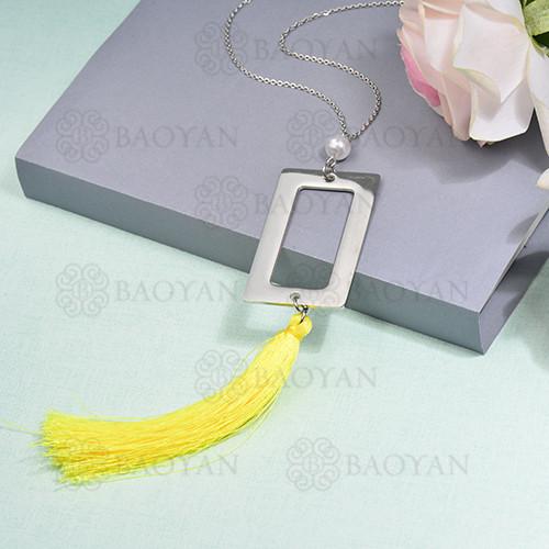 collar de borla en acero inoxidable -SSNEG142-16272
