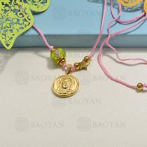 collar de charms en acero inoxidable -SSNEG142-16213