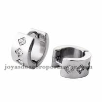 argollas 12mm rayas negra en acero plata inoxidable para mujer -SSEGG274100