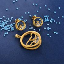 Joyas de Acero Inoxidable de Color Oro Dorado -SSSTG81-8412