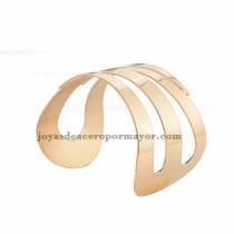 pulsera de forma especial en acero rosado inoxidable para chica -SSBTG213307