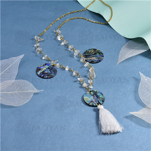 joyeria de coleccion de concha de mar -SSNEG142-15840