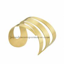 pulsera de forma especial en acero dorado  inoxidable para chica -SSBTG213306