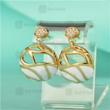 Aretes de Cobre en Moda para Mujer -BREGG125-5422