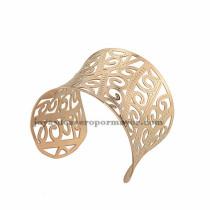 pulsera de  forma remolino rosado  en acero inoxidable para mujer -SSBTG213339
