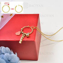 collar de charms DIY en acero inoxidable -SSNEG142-16247