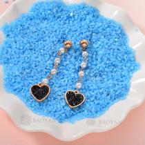 Aretes de Perlas de Acero Inoxidable -SSEGG143-9291