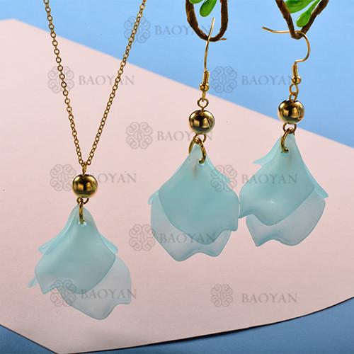 Conjunto de Collar y Aretes Fatansia -SSNEG142-12770