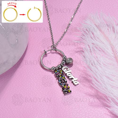 collar de DIY en acero inoxidable -SSNEG143-15485