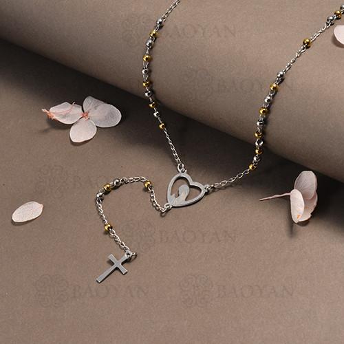 rosario en acero inoxidable -SSNEG95-16395