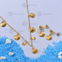 Conjunto de Collares de Concha -SSNEG142-12672