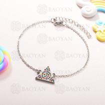 Pulsera de Charms Multi Color en Acero Inoxidable -SSBTG143-10934