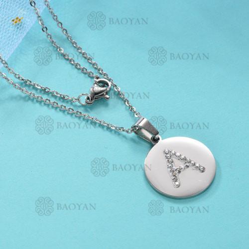Collar de Acero Inoxidable para Mujer -SSNEG143-12030