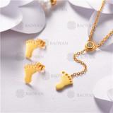 Conjunto de Acero Inoxidable Oro Dorado -SSNEG126-10471