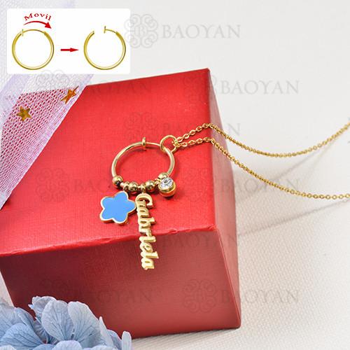 collar de charms DIY en acero inoxidable -SSNEG142-16261