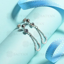 aretes de acero inoxidable para mujer -SSEGG143-15381-S