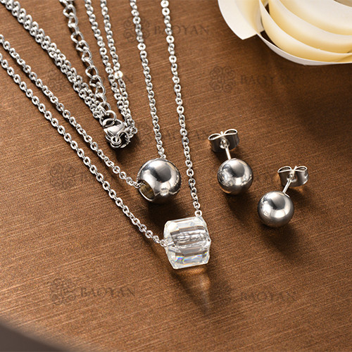 Conjunto Collar Multi Capa de Acero Inoxidable -SSNEG126-12130