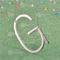 Collar de Inicial Letra para MujerSSNEG81-4629